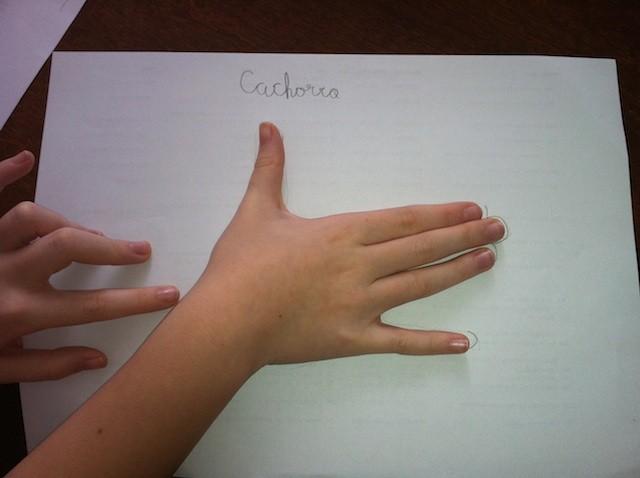 Desenhando com os dedos e as mãos   bora.aí